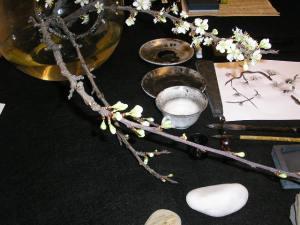 Ejp. de taller de invierno de pintura japonesa sumi-e