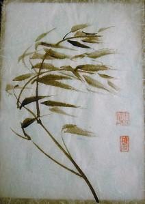 bambú al viento