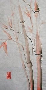 bambú rojo de la suerte